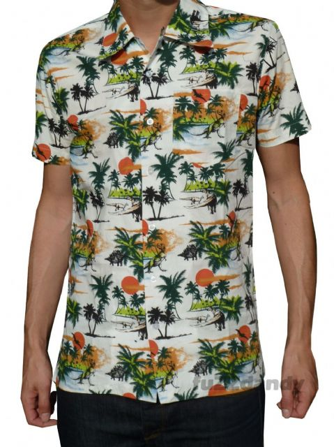 Brian - Dinosaur Hawaiian Beach Shirt